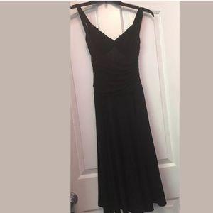 Bcbg max Azria black sleeveless formal dress